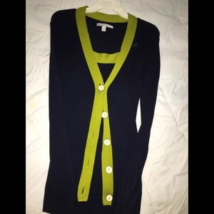 Old navy cardigan with tank sweater